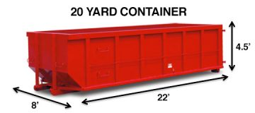 20 Yard Waste Disposal Container