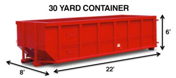 30 Yard Waste Disposal Container
